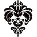 Heidi Swapp - Rolled Stickers - Clear - Damask - Jet