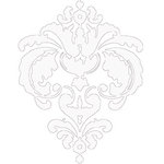 Heidi Swapp - Rolled Stickers - Clear - Damask - White