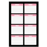 Heidi Swapp - Journaling Spots - Days of the Week - Pink