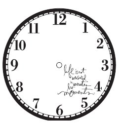 Heidi Swapp - Silhouette Clock Faces - Moments - Jet, CLEARANCE