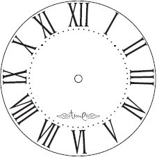 Heidi Swapp - Silhouette Clock Faces - Time Flies - Jet, CLEARANCE