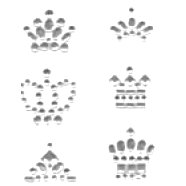 Heidi Swapp - Bling Crowns - Clear
