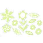 Heidi Swapp - Ghost Flowers - Kiwi, CLEARANCE