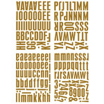 Heidi Swapp - Metallic Chipboard Alphabet - Center of Attention - Copper, CLEARANCE