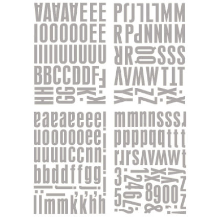 Heidi Swapp - Metallic Chipboard Alphabet - Center of Attention - Silver, CLEARANCE