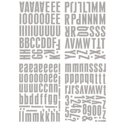 Heidi Swapp - Metallic Chipboard Alphabet - Center of Attention - Silver, CLEARANCE