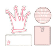 Heidi Swapp - Journaling Spots - Mini - Crowns