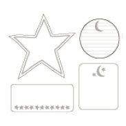 Heidi Swapp - Journaling Spots - Mini - Stars & Moon, CLEARANCE