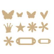 Heidi Swapp - Chipboard Variety Pack - Mini - Raw, CLEARANCE