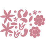 Heidi Swapp - Metallic Chipboard - Shapes - Flowers - Pink, CLEARANCE