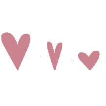 Heidi Swapp - Metallic Chipboard - Shapes - Hearts - Pink, CLEARANCE