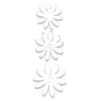 Heidi Swapp - Glitter Florals - White, CLEARANCE