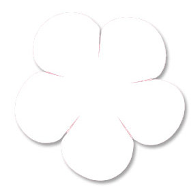 Heidi Swapp - Rounded Florals - White, CLEARANCE