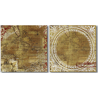 Heidi Swapp - World Traveler Collection - 12x12 Double Sided Paper - Old Map