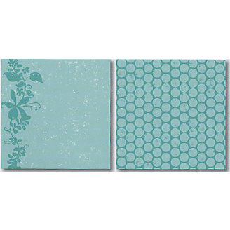 Heidi Swapp - Carefree Collection - 12x12 Double Sided Paper - Flowering Vine, CLEARANCE