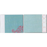 Heidi Swapp - Carefree Collection - 12x15 Double Sided Paper with Die Cuts - Gingham Paisley, CLEARANCE