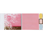 Heidi Swapp - Carefree Collection - 12x15 Double Sided Paper with Die Cuts - Pink School Stripe, CLEARANCE