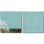 Heidi Swapp - Carefree Collection - 12x12 Double Sided Paper - Sky School Stripe