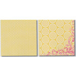 Heidi Swapp - Carefree Collection - 12x12 Double Sided Paper - Strawberry Lemonade Dots, CLEARANCE