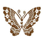 Heidi Swapp - Carefree Collection - 12x12 Overlay Extras - Chestnut Butterfly