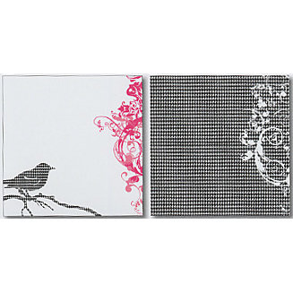Heidi Swapp - Runway Collection - 12x12 Double Sided Paper - Bird Flourish
