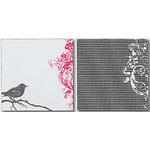 Heidi Swapp - Runway Collection - 12x12 Double Sided Paper - Bird Flourish