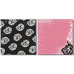 Heidi Swapp - Runway Collection - 12x12 Double Sided Paper - Broken Rose, CLEARANCE