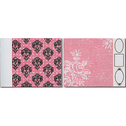 Heidi Swapp - Runway Collection - 12x15 Double Sided Paper with Die Cuts - Damask