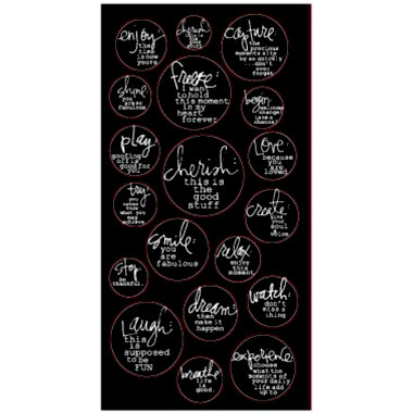 Heidi Swapp - Dream Dining Room Collection - Verb Stickers