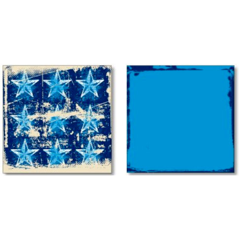 Heidi Swapp - Street Smarts Collection - 12 x 12 Double Sided Paper - 9 Star , CLEARANCE