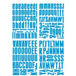 Heidi Swapp - Chipboard Alphabet - Center of Attention - Glossy Cobalt, CLEARANCE
