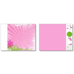 Heidi Swapp - Winterfresh Collection - 12 x 15 Double Sided Paper with Die Cuts - Pink Snow Storm, CLEARANCE