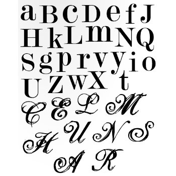 Heidi Swapp - Clear Stamps - Alphabet, CLEARANCE