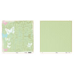 Heidi Swapp - Fresh and Free Collection - 12 x 12 Double Sided Paper - Free, CLEARANCE