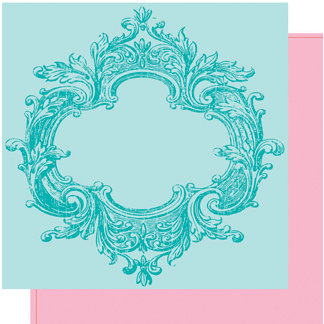 Heidi Swapp - Fresh and Free Collection - 12 x 12 Double Sided Paper - Fresh Frame, CLEARANCE