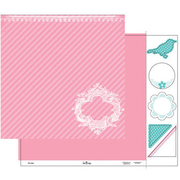Heidi Swapp - Fresh and Free Collection - 12 x 15 Double Sided Paper with Die Cuts - Title Page, CLEARANCE
