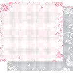Heidi Swapp - Love Notes Collection - 12 x 12 Double Sided Paper - Lovely Grid, CLEARANCE