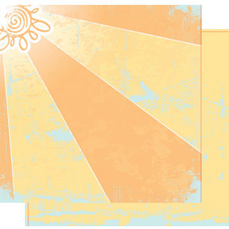 Heidi Swapp - Summer Sun Collection - 12 x 12 Double Sided Paper - Summer Sun, CLEARANCE