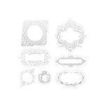 Heidi Swapp - Invisibles Collection - Self Adhesive Inkable Chipboard Shapes - Ornate Frames