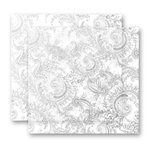 Heidi Swapp - Invisibles Collection - 12 x 12 Inkable Chipboard Sheets - Ornate Art - 2 Sheets, CLEARANCE