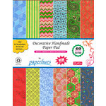 Hilltop Paper LLC - Decorative Handmade Paper Pack - 8.5 x 11 - Blue Green Red - 40 Pack