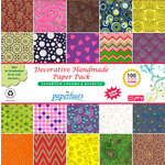 Hilltop Paper LLC - Decorative Handmade Paper Pack - 6 x 6 - Assorted Color and Design - 100 Pack