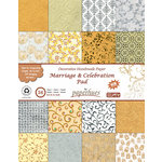 Hilltop Paper LLC - Decorative Handmade Paper Pack - 8.5 x 11 - Marriage and Celebration - 36 Pack