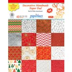 Hilltop Paper LLC - Decorative Handmade Paper Pack - 8.5 x 11 - Red and White - 40 Pack