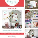 Hazel and Ruby - Crafternoon Collection - Kits - Watercolor Art