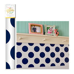 Hazel and Ruby - DIY Decor Tape - Navy Polka Dot - 12 Inch