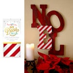 Hazel and Ruby - Christmas - DIY Decor Tape - Candy Cane Stripe - 4 Inch