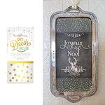 Hazel and Ruby - Christmas - DIY Decor Tape - Gold Confetti Dot - 4 Inch