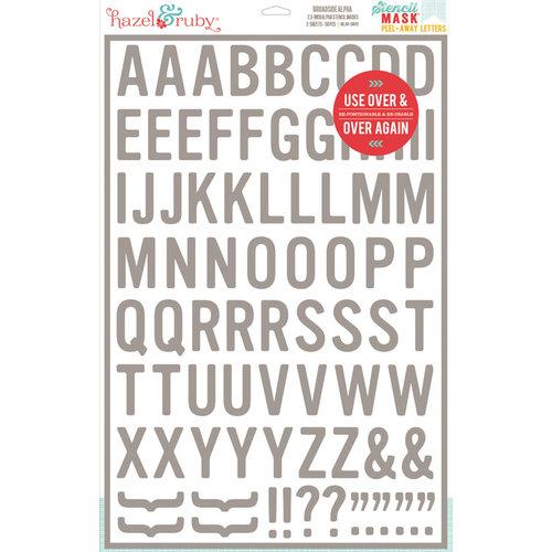Hazel and Ruby - Stencil Mask - 12 x 18 - Blindside Alphabet