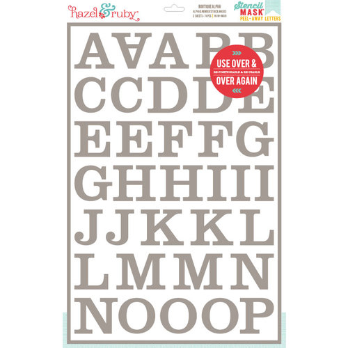 Hazel and Ruby - Stencil Mask - 12 x 18 - Boutique Alphabet